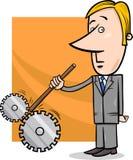 Ilustração dos desenhos animados do homem de negócios do sabotador Fotografia de Stock