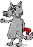 Ilustração dos desenhos animados do lobo do conto de fadas ilustração do vetor