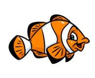 Ilustração dos desenhos animados do palhaço dos peixes Foto de Stock Royalty Free
