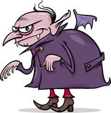 Ilustração dos desenhos animados do vampiro de Dia das Bruxas Fotos de Stock