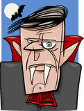 Ilustração dos desenhos animados do vampiro de Dia das Bruxas Imagens de Stock