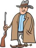 Ilustração dos desenhos animados do vaqueiro Fotografia de Stock