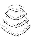 Ilustração dos desenhos animados do vetor da pilha dos descansos Imagem de Stock