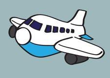 Ilustração dos desenhos animados do vetor do avião ilustração stock