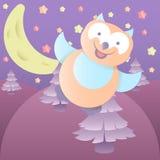 Ilustração dos desenhos animados Owl Imagem de Stock