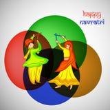Ilustração dos elementos do fundo hindu de Navratri do festival ilustração stock