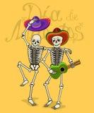 Ilustração dos esqueletos engraçados Imagens de Stock