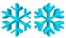 ilustração dos flocos de neve 3D com trajeto de grampeamento Fotografia de Stock