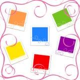 Ilustração dos frames da foto colorida Imagens de Stock Royalty Free