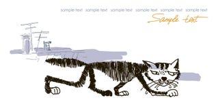 Ilustração dos gatos do vetor isolada no branco Imagens de Stock
