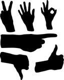 Ilustração dos gestos de mão Fotos de Stock Royalty Free