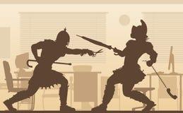 Ilustração dos gladiadores do escritório Imagens de Stock