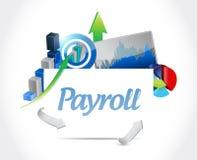 ilustração dos gráficos de negócio da folha de pagamento Imagem de Stock
