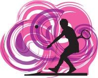 Ilustração dos jogadores de ténis. Fotos de Stock