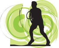 Ilustração dos jogadores de ténis. ilustração royalty free