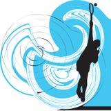 Ilustração dos jogadores de ténis. Foto de Stock