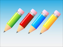 Ilustração dos lápis Imagem de Stock