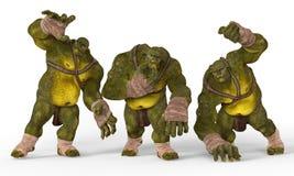 Ilustração dos ogres 3D Imagens de Stock