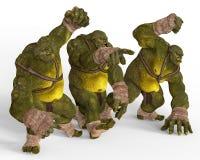 Ilustração dos ogres 3D Imagem de Stock