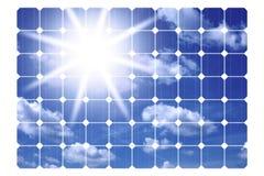Ilustração dos painéis solares Foto de Stock Royalty Free