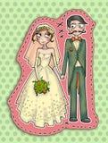 Ilustração dos pares do casamento Fotografia de Stock Royalty Free
