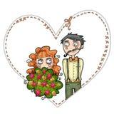 Ilustração dos pares do casamento Imagens de Stock Royalty Free