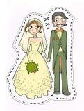 Ilustração dos pares do casamento Foto de Stock Royalty Free