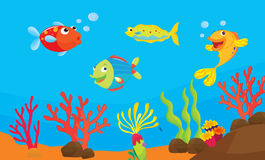 Ilustração dos peixes do recife Foto de Stock