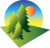 Ilustração dos pinheiros Ilustração Royalty Free