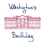 Ilustração dos presidentes Dia ilustração do vetor