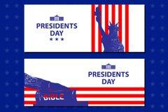 Ilustração dos presidentes Dia O presidente jura pela Bíblia Fotos de Stock