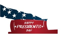 Ilustração dos presidentes Dia O presidente jura pela Bíblia Silhueta da mão na Bíblia Imagem de Stock Royalty Free