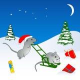 Ilustração dos ratos do Natal Fotografia de Stock