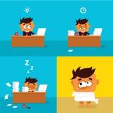 Ilustração dos trabalhadores de escritório Ilustração Stock