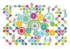 Ilustração dos trabalhos de equipa Imagem de Stock