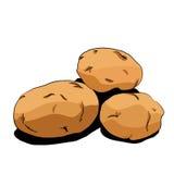 Ilustração dos vegetais batatas Foto de Stock