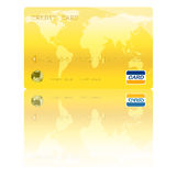 Ilustração dourada de Digitas do cartão de crédito fotos de stock royalty free