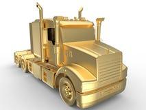 Ilustração dourada do caminhão Fotografia de Stock