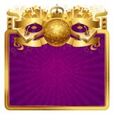 Ilustração dourada do disco Foto de Stock Royalty Free