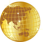 Ilustração dourada do globo Fotos de Stock Royalty Free