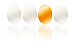 Ilustração dourada do negócio do ovo, lucro, easter Imagem de Stock Royalty Free