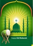 Ilustração Eid Mubarak feliz do vetor Foto de Stock Royalty Free