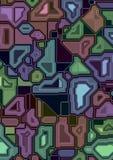 Ilustração eletrônica artificial do esquema ilustração do vetor