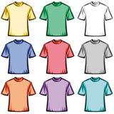 Ilustração em branco dos t-shirt Foto de Stock