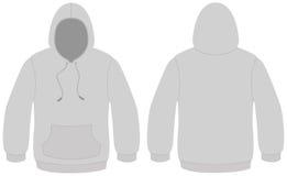 Ilustração encapuçado do vetor do molde da camisola Imagens de Stock Royalty Free