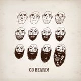 Ilustração engraçada crescente da barba Fotografia de Stock