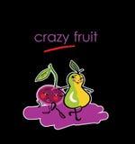 Ilustração engraçada das frutas Fotos de Stock Royalty Free