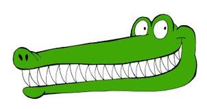 Ilustração engraçada de um crocodilo de sorriso ilustração royalty free