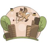 Ilustração engraçada do cupido do vetor ilustração stock