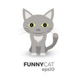 Ilustração engraçada do gato Imagens de Stock Royalty Free